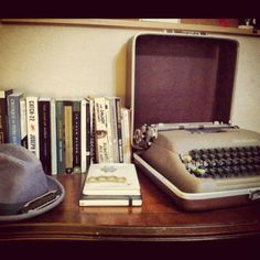type writers... I have this one, got it from my grandpa.