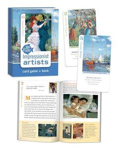 Go Fish Art Cards-Impressionist Artists
