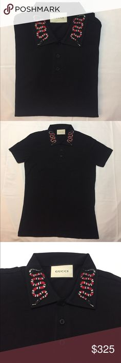 Gucci polo Gucci polo with snake embroidery Gucci Shirts Polos