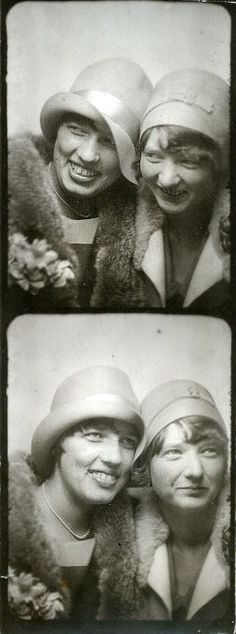 ** Vintage Photo Booth Picture **   One of the earlier photo booth pictures taken in the twenties.  They look like they're having a blast.