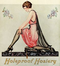 A lovely Holeproof Hosiery ad, 1923. (Coles Phillips)
