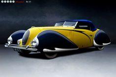 Talbot-Lago T-150 C LS Cabriolet Torpedo by Figoni et Falaschi, 1938. @Deidré Wallace