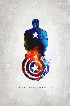 Captain America by Creator Anup Dutta Capitan America Marvel, Captain America Art, Captain America Wallpaper, Captain America Background, Captain America Tattoo, Marvel Art, Marvel Dc Comics, Marvel Heroes, Captain Marvel