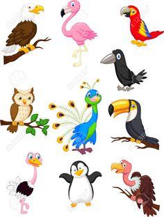 27166453-Bird-cartoon-collection--Stock-Vector-flamingo-peacock-baby.jpg (983×1300)