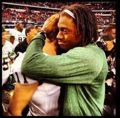 RG3 congratulates Nick Florence after Texas Tech win 2012