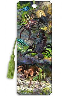 Artgame 3D Creepy Crawlies Bookmark