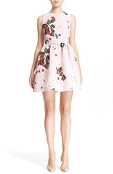 RED Valentino Cherry & Daisy Fit & Flare Dress