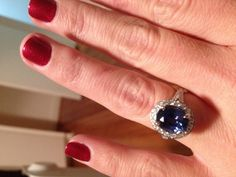 Found on Weddingbee.com Share your inspiration today!    3.3 carat oval sapphire size 5 1/4 finger.