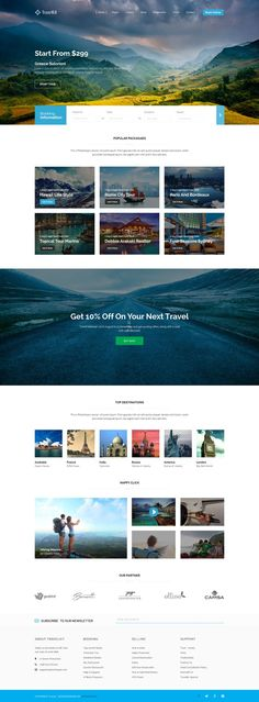 Beautiful website design for travel company with strong photography. Design Lab, Web Ui Design, Web Design Trends, Branding Design, Page Design, Design Agency, Website Layout, Web Layout, Layout Design