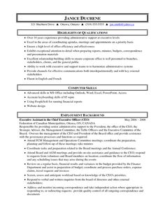 Executive Resumes Samples Free Inspiration Decoration Resume Formats And Examples Customer Care Sample Choose Medical Administrative Assistant