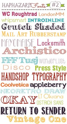 Haphazard Mom Free Fonts #2