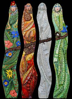 Four Seasons #Mosaic By Irina Charny icmosaics.com