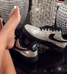 Nike Air Force 1 with crystals ❤️
