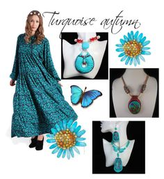 """""""Turquoise autumn"""" by varivodamar ❤ liked on Polyvore featuring modern"""