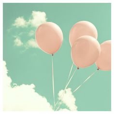 Love Photography Valentine Day Balloon, mint pink, nursery art,... ($30) ❤ liked on Polyvore