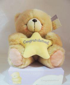 "Oso con estrella ""Congratulations"", ideal para felicitar a alguien."