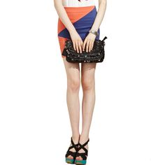 Olomo - Color Block Bodycon Skirt $60.00 http://www.shop.secretenvy.com/Olomo-Color-Block-Bodycon-Skirt-20139182.htm