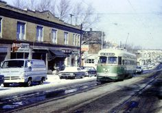 PCC CAR ON RT.47 PHILA. 1960S
