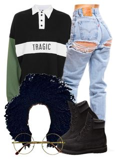 """""""4 20 17"""" by miizz-starburst ❤ liked on Polyvore featuring The Ragged Priest, Timberland and Retrò"""
