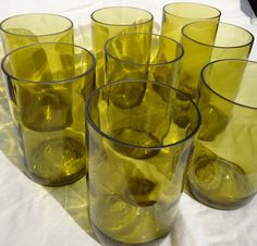 Upcycled Wine Bottle Glasses made from wine bottles by ConversationGlass, $56.00
