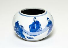Spherical Brushwasher with Two of the Eight Immortals of the Wine Cup, Qing dynasty (1644-1911)