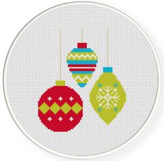 Charts Club Members Only: Holiday Baubles Cross Stitch Pattern