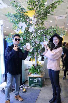 Song Ji Hyo and Kang Gary at Kyung Dong Pharmaceutical fan sign event