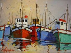 Purchase artwork Harbour Scene - Oil Painting by South African Artist Willie Strydom African Art Paintings, African Artwork, Seascape Paintings, Nautical Prints, Sailboat Painting, Boat Art, Naive Art, Art Portfolio, Figurative Art