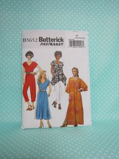 Caftan Pattern. Butterick 6262.   SOLD  Ladies Sz:L-XxL. Dress, Top, Jumpsuit and Pants Pattern.  Fast & Easy New Pattern. Cheap Shipping. by FashionSew on Etsy