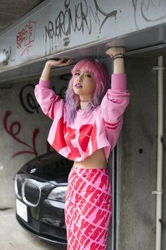 Pink Perfection with Alisa Ueno.- Via http://luckymelli.tumblr.com/