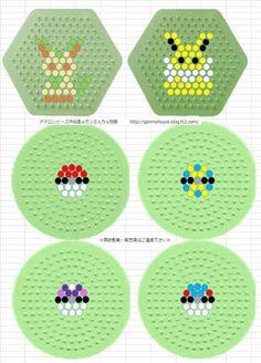 Pokemon perler beads pattern