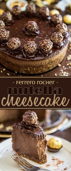 Devilishly rich, creamy, smooth and velvety... just one bite of this Ferrero Rocher Nutella Cheesecake will send you straight to seventh heaven!
