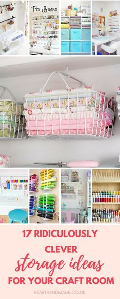 Craft storage ideas for small spaces. In need of many craft storage ideas to finally get your craft room organized? There are lots of posts here to help you so click through! #craftstorage #craft #craftsupplies #craftroom