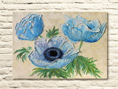 Tenderness of Anemones  Original Oil Painting on canvas