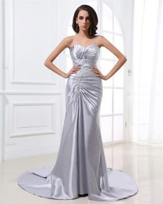 osell wholesale dropship Fashion Gorgeous Sheath Sweetheart Sweep Charmeuse Women's Evening Prom Dress $77.49