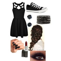 {Made by volleyballbeauty06 on polyvore} my divergent/dauntless inspired costume for the nerd ball