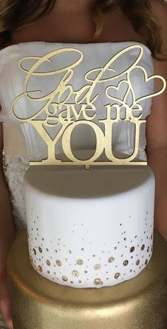 Count your many blessings, name them one by one. Obviously, God gave me you! That's a fantastic blessing and we know you want to share this with everyone at your wedding. This would be great for a baby shower as well. How special..... show us some love by sharing this with your friends.  #He>I #God #Blessed #Wedding