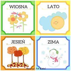 Nauczyć Ich Latać, dekoracje, przedszkole Weather For Kids, Learn Krav Maga, Polish Language, Calendar Board, Primary Teaching, Doodle Coloring, Four Seasons, Kids And Parenting, Kids Learning