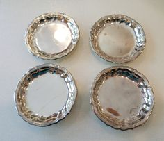 Vintage Denmark Stamped, Sterling Silver Set of Four Bon Bon Small Dishes. by…