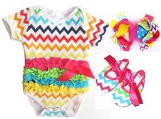 Babygirl chevron outfit