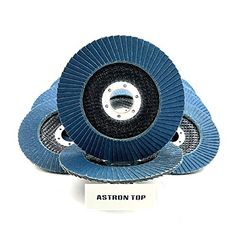 """Astron Top Premium Zirconia Flap Disc, 4.5"""" x 7/8"""", 10-Pack, 80 Grit, Grinding Wheel, FDZ45P080B  10 Pack, 4-1/2 inch diameter with 7/8 inch arbor, Type #27  Maximum speed at 13,300 RPM  Premium Zirconia grit enables 3X faster material removal than fiber resin metal sanding discs  Built for long-life premium abrasive that works well on stainless steel, hard steel, titanium and various others.  Flap Discs consist of sanding strips adhered to a strong fiberglass backing plate in an overl..."""