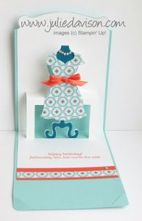 Julie's Stamping Spot -- Stampin' Up! Project Ideas Posted Daily: VIDEO: Dress Up Pop N' Cuts Card + Blog Party Day 3 Door Prize