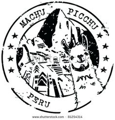 Machu Picchu Peru Grunge Travel Stamp Sticker Decal Design X Tattoo Peru, Inca Tattoo, Machu Picchu, Travel Stamp, Inka, Jw Gifts, Passport Stamps, Grunge, Peru Travel