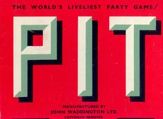 Three letters (P - I - T) form the word PIT. Each letter is ready to fall into its own individual pit. One PIT, three PITS
