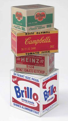 Andy Warhol (1928-1987) | Brillo Box, Campbell's Tomato Juice Box, Heinz Tomato Ketchup Box, Del Monte Peach Halves Box | 1960s, Sculptures, Statues & Figures | Christie's