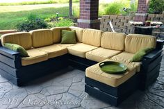 DIY Outdoor Sectional. Build it yourself out of regular wood from a home improvement store!