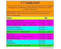 3-2-1 Sweaty Circuit Workout LOVE a good circuit workout!
