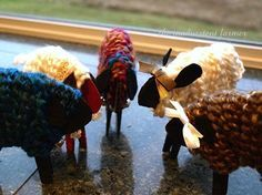 """Lambs:  2 clothespins (need to paint 1/2 of each clothespin), glue, yarn, mini bells, ribbon.  Use this with the Scripture reading where Christ says He will leave the 99 sheep and go look for the lost one.   Play a game of """"hiding the sheep"""" and having students find it...can use hot/cold"""