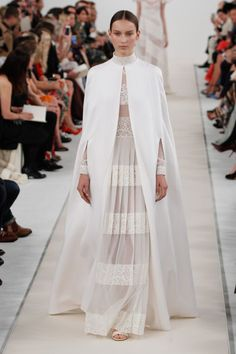 Valentino: What a lovely look for a white wedding.