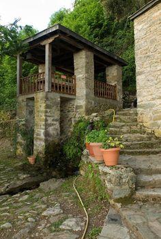 Mt Athos -The Monastery of Megisti Lavra: The fountain of monk Athanasios, the founder of monastery